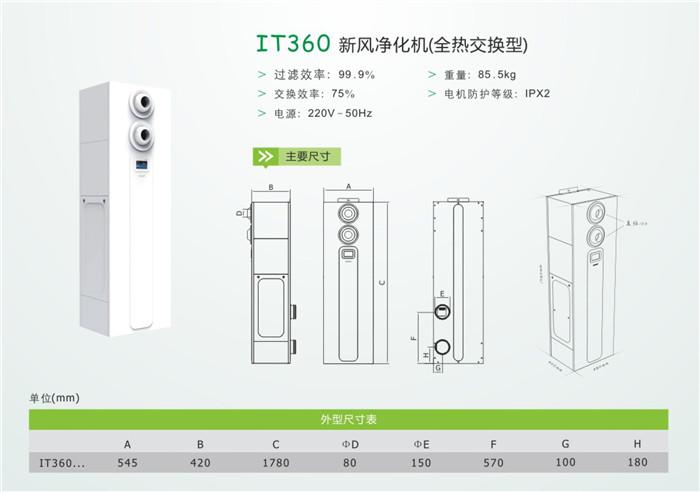 IT360新风净化剂(全热交换性)